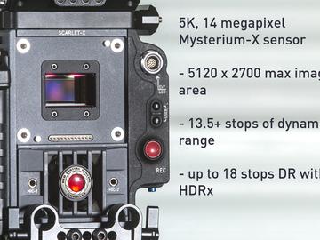 Rent: RED Scarlet M-X Kit, w. lenses, batts, media, and full aks