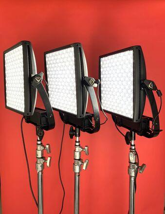 (3) Litepanels Astra 1x1 EP Bi-Color LED package