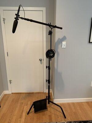 full boom mic kit for sit-down interview setup