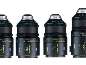 Rent: Arri Master Anamorphic lens Set