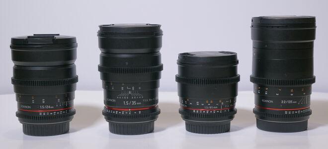 Rokinon Cine Lens Set Canon 24mm, 35mm, 85mm, 135mm