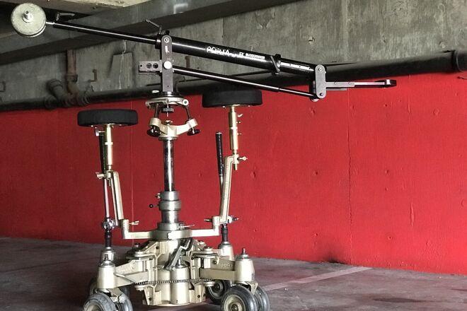 Elemack Spyder  2 seat crab dolly +16ft Track+Skate wheels+