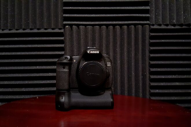 Canon EOS 60D with Extended Battery Grip