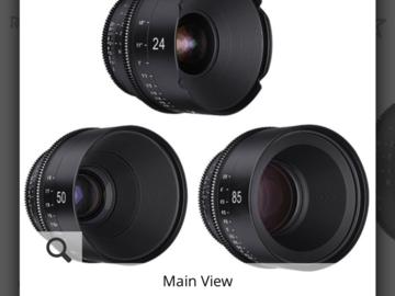 Rent: Xeen Ef mount Cine lenses 14-24-50-85