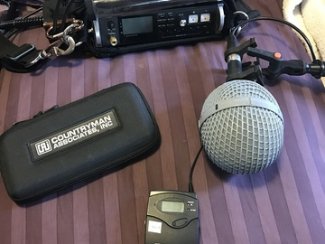 Rent: Tascam DR-680, 2 x Senn. G3 Mics w/ Countryman B6 and Boom