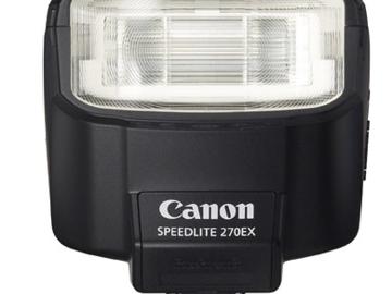 Rent: Canon Speedlite 270EX Flash for Canon SLR Cameras w/ cord