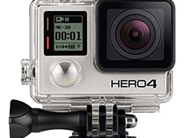 Rent: Hero GoPro 4 Silver- 4K Shooting w/Accessories