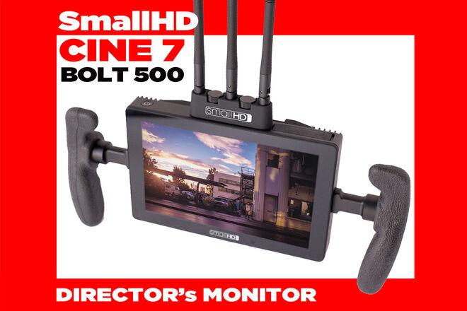 "Cine 7"" BOLT 500 monitor + batts (teradek wireless receiver)"