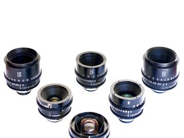 Rent: CANON VINTAGE FD PL-MOUNT Prime 6 Lens Set