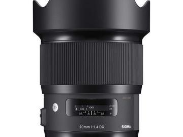 Rent: Sigma Art 20mm f1.4 Lens
