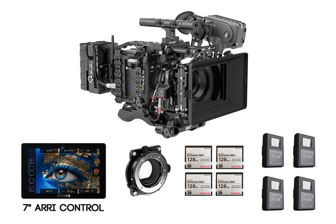 ARRI Alexa Mini PL/EF Camera | SmallHD Cine7, Cards & Batts