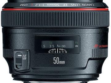Rent: Canon 50mm F/1.2 USM L