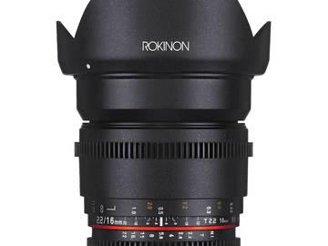 Rent: ROKINON CINE DS LENSES SET- SONY 'E' MOUNT- 16, 35, 50, 85mm