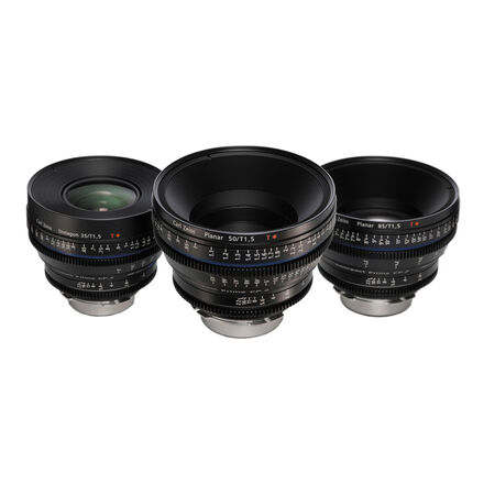 Zeiss Compact Prime CP.2 EF 35mm , 50mm , 85mm  Lens Set