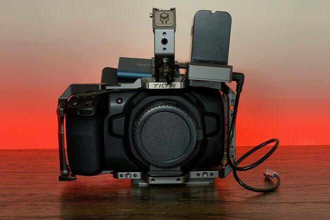 Blackmagic Pocket Cinema 4K w/ speedbooster, media, cage