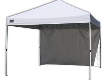 Rent: 10 ft. x 10 ft. White Canopy - Quik Shade C100 w/ 4 walls