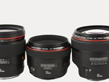 Rent: Canon Prime lens set 24mm, 35mm, 50mm, 85mm, 100mm