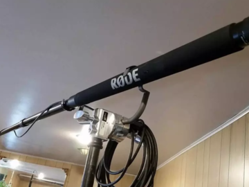 Rent: Rode 10' boom pole with Rode mic and boom pole holder