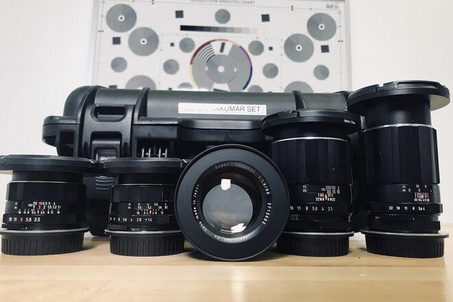 Asahi-Pentax Super Takumar Prime Set (EF or E-mount)