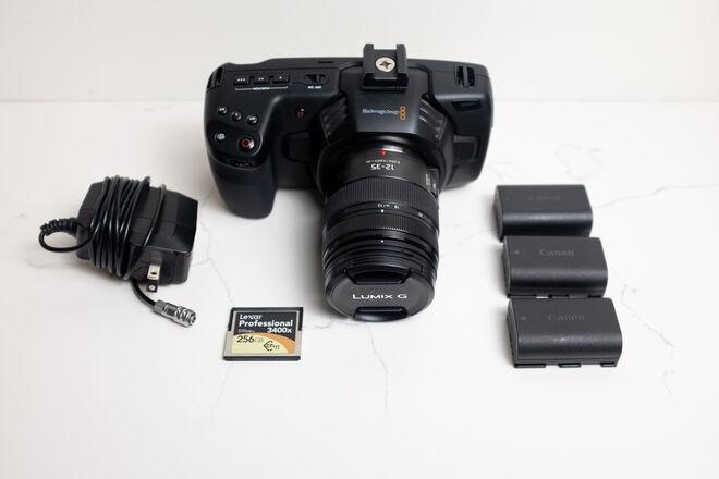 Blackmagic Pocket Cinema 4k w/ Lumix 12-35 f/2.8 Lens