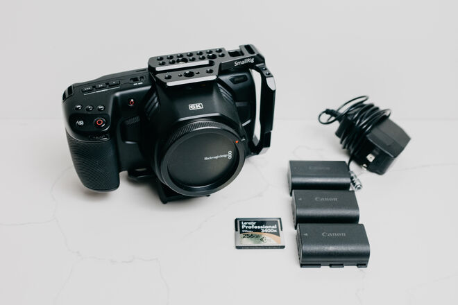 6K Blackmagic Design Pocket Cinema Camera PACKAGE (EF Mount)
