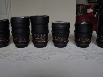 Rent: Rokinon/Samyang T 1.5 6 Lens Set