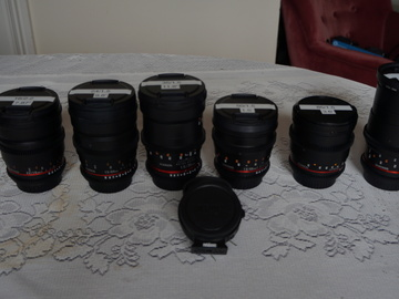 Rent: Rokinon/Samyang T 1.5  6 Lens Set with Speedbooster