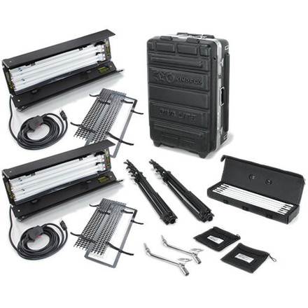 Kino Flo Dual Diva-Lite 201 Fixtures with Flight Case Kit