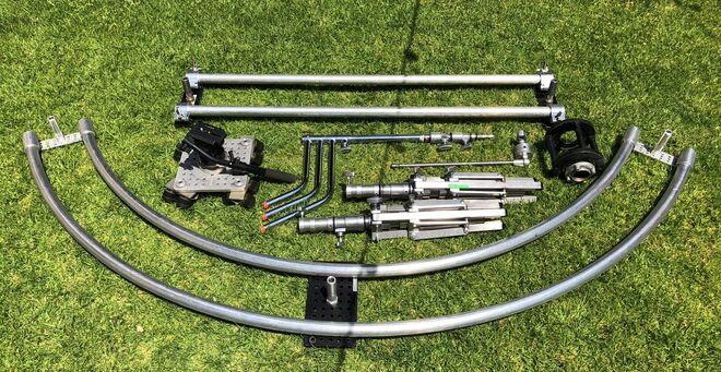 Dana dolly Slider kit with Circular tracks and straight