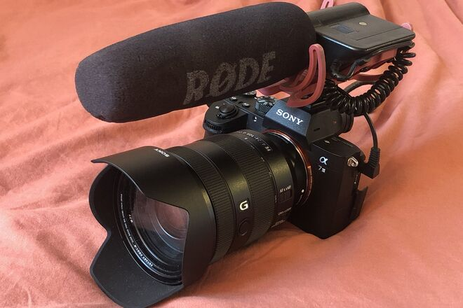 Run & gun kit! Sony A7 III, 24-105 lens, Rode shotgun mic