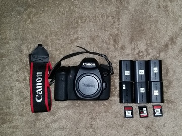 Rent: Canon 6d with 6x batteries and 3x 16gb SD card