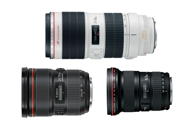 Canon Zooms Kit 16-35 2.8 II, 24-70 2.8 II, 70-200 2.8 IS II