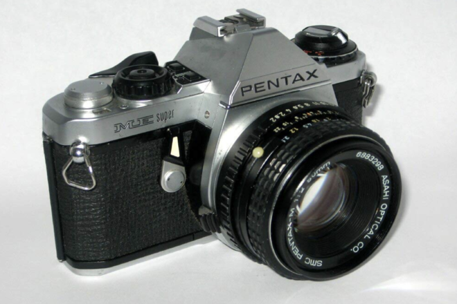 Pentax ME Super 35mm Film Camera w/ 50mm f/2 Lens