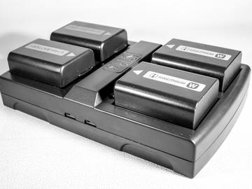 Rent: FOUR Sony NPFW50 Batteries