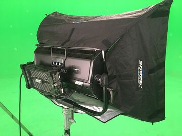Rent: Two Arri S60 SkyPanel's w/ 1 Chimera and Stands