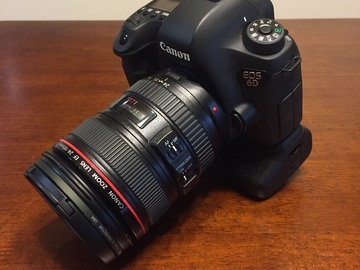 Rent: Canon 6D + 24-105 + Videomic Pro + Battery Grip Package