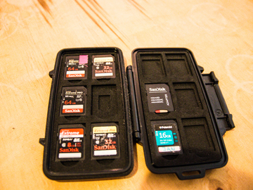 Rent: Full SD Card Set 4x 64gig 2x 32gig