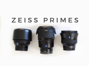 Rent: Zeiss Prime Kit: 18/35/85mm