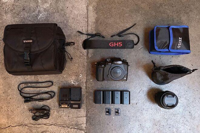 GH5, Lumix G X Vario 35-100 f/2.8II O.I.S. Lens, 4 Batteries