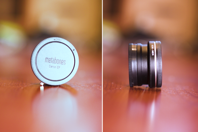 Canon EF-Sony NEX Mount Clear Lens Adapter Manual