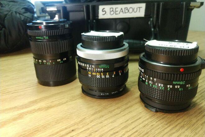 BMPCC4K kit w/ Canon FD lenses/ Speedbooster