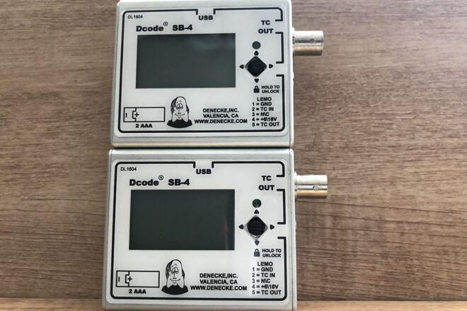 Denecke Syncbox Dcode SB-4 Time-Code Generator SB-4
