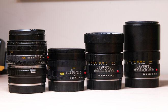 Leica R Lens Set / 24,35,50,90,135