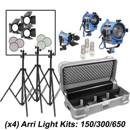 ARRI Tungsten Light Kit: 150/300/650 +Dimmer