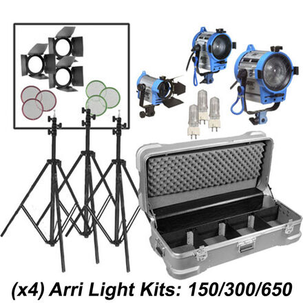 ARRI Tungsten Light Kit: 150/300/650 +Dimmer