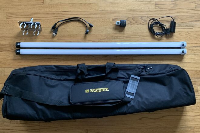 Quasar 4' Crossfade Tube (x2) with Dimmer & Holder