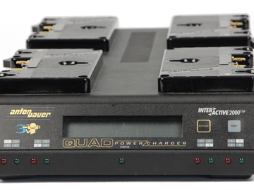 Rent: Anton Bauer Quad Charger Q-2702 with 2 batteries