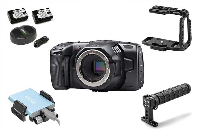Blackmagic Pocket 6K, Cage, Handle, 2TB SSD BMPCC6k 1 of 3
