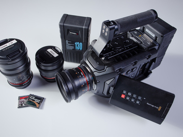 Rent: Black Magic URSA Mini 4K EF Package with 4 Rokinon DS Lenses