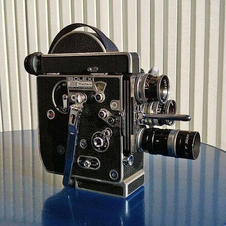 BOLEX H16 Reflex REX4 16mm Film Camera with 3 Prime Lenses